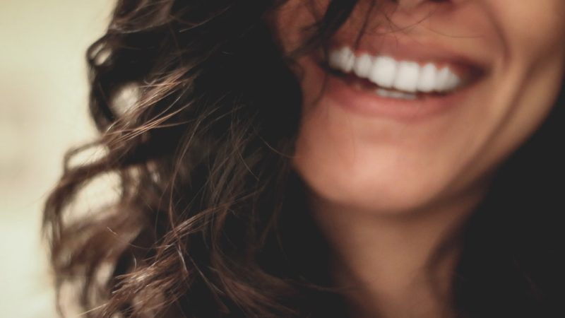 Girl with a big smile